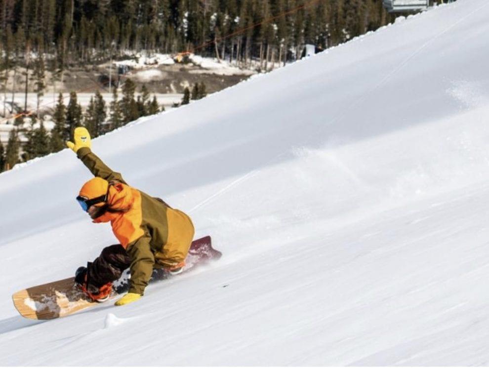 Snowboarder at Boreal