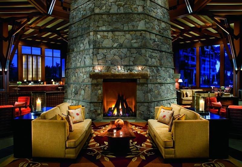 Living room at the ritz carlton lake tahoe at Northstar