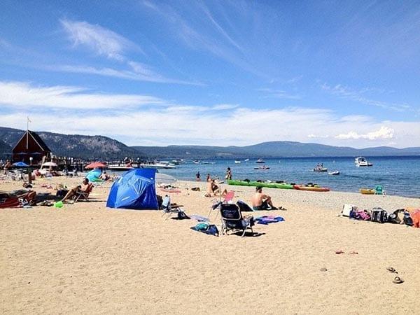 Chambers Landing Beach Lake Tahoe