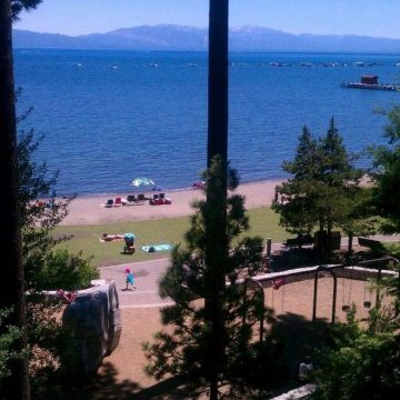 Commons beach in Tahoe City at Lake Tahoe