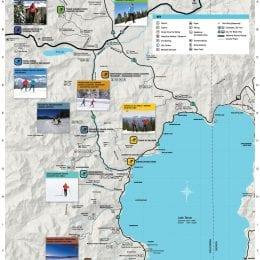 Detailed North Lake Tahoe nordic ski map