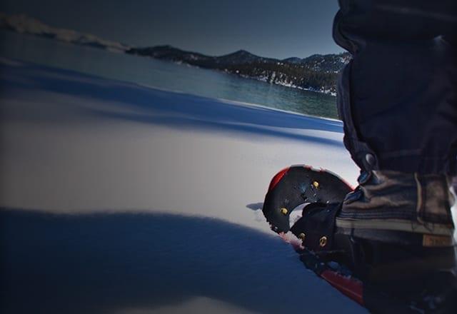 Snowshoeing around Lake Tahoe