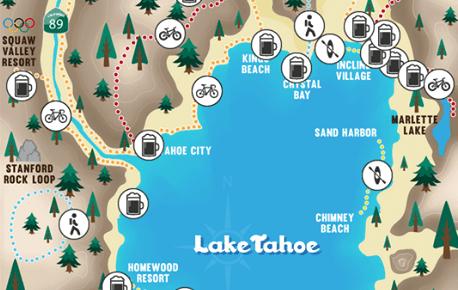 Lake tahoe ale trail map
