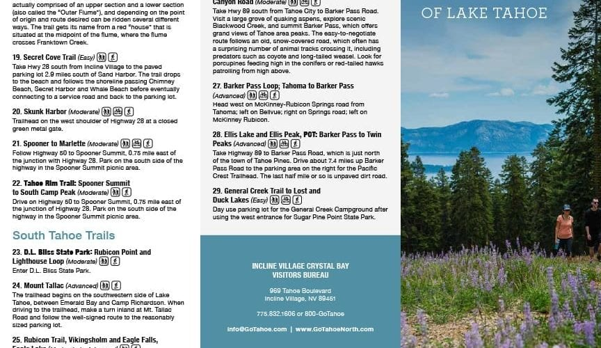 What's Trending - North Lake Tahoe Trails