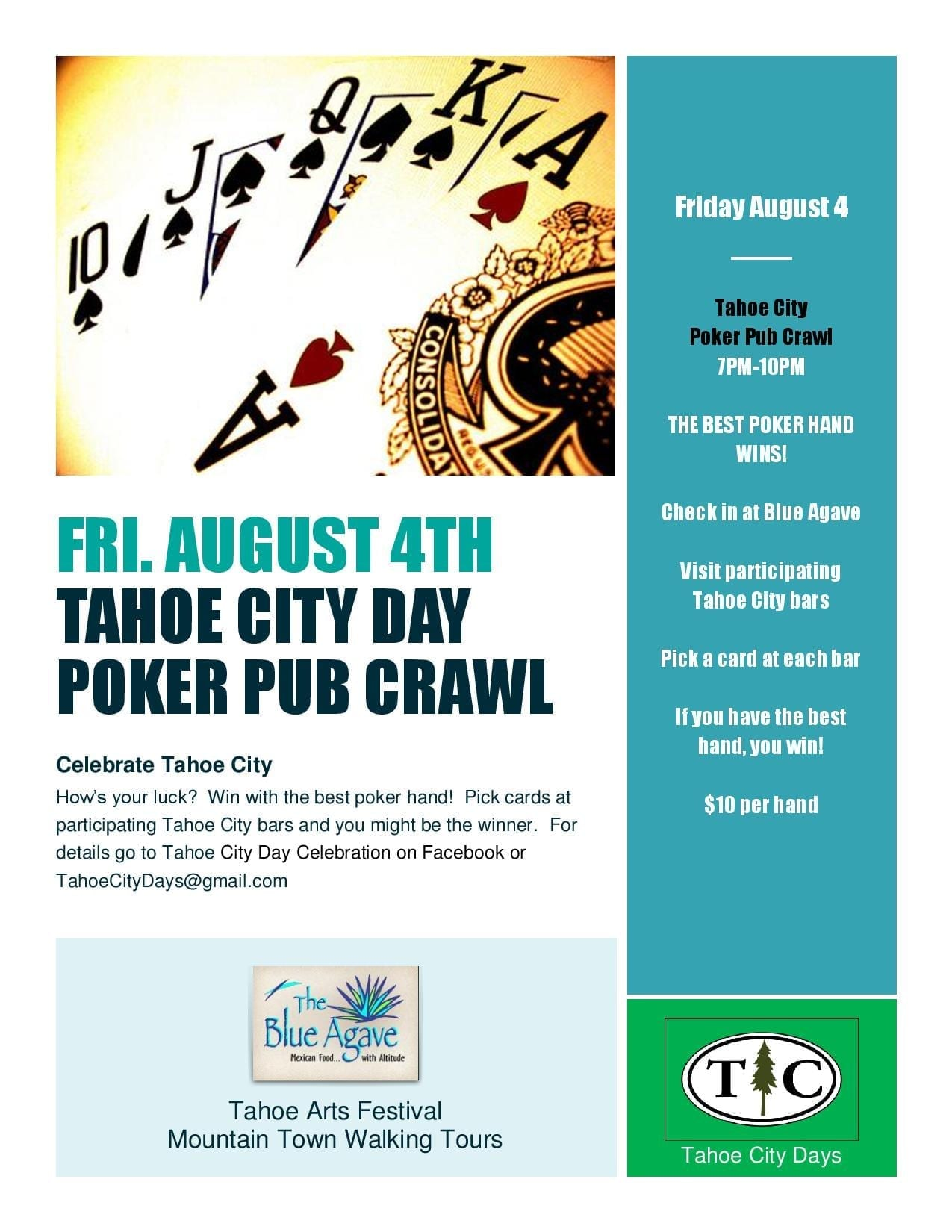How S Your Luck Win With The Best Hand Pick Cards At Paring Tahoe City Bars And You Might Be Winner Extra Credit Trivia