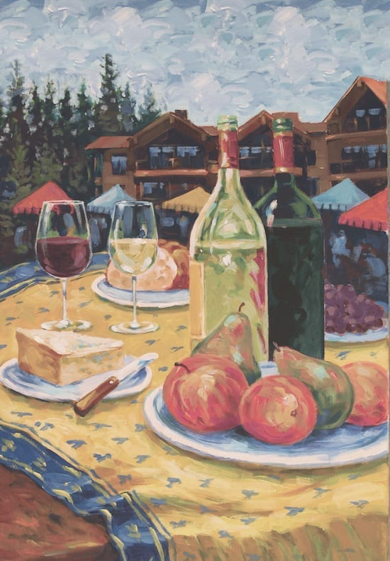 Illustration of Autumn Food & Wine