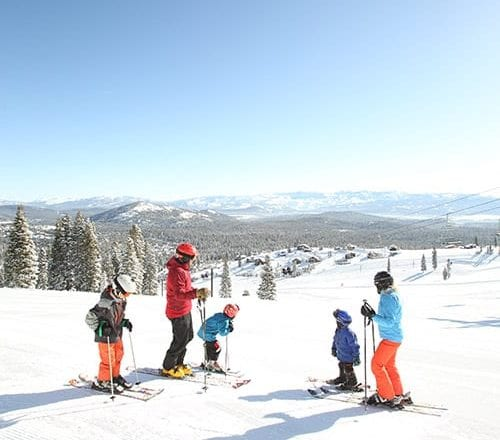 Downhill Skiing in Tahoe Donner