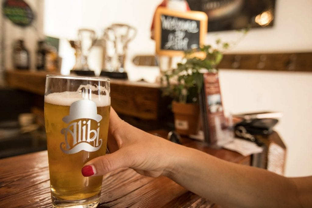 Slip into something a little more comfortable late in the day - namely a drink - at North lake Tahoe's Alibi Ale Works.