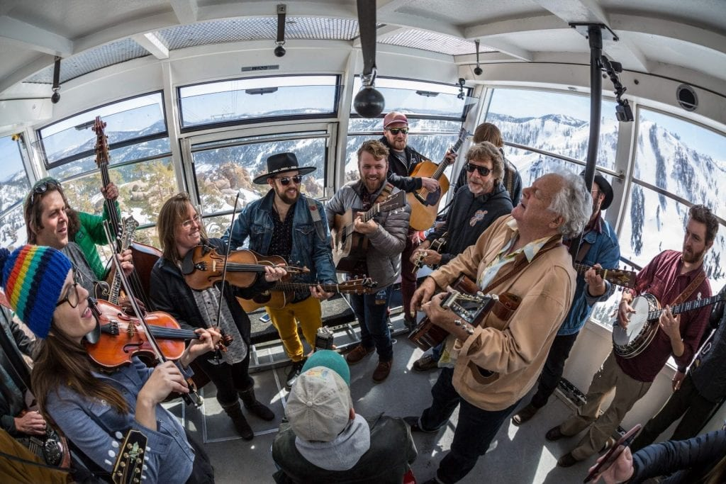The Winterwondergrass festival is perfect for an April North Lake Tahoe Vacation.