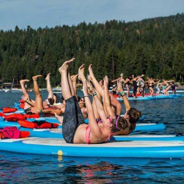 Wanderlust SUP yoga on Lake Tahoe