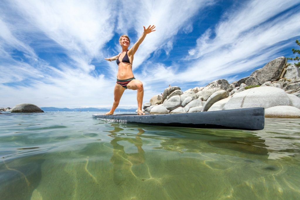 Stand-up paddleboarding is one of North Lake Tahoe's human-powered sports.