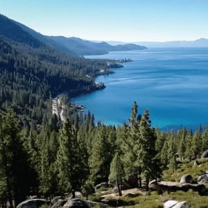 Sweeping View of Lake Tahoe's East Shore
