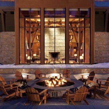 Ritz Carlton Lake Tahoe fire pit patio