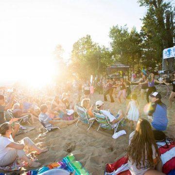 Music on the Beach Kings Beach summer crowd