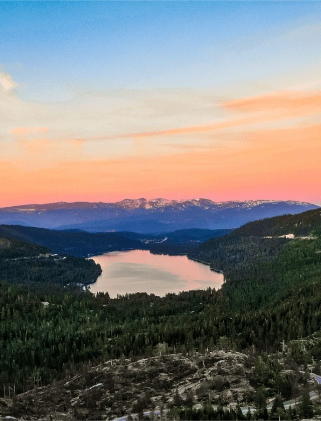 Donner Lake Sunset Sky