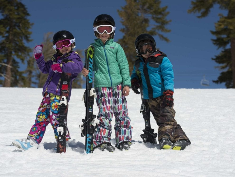 The Rabinowitz family skiing at Squaw Valley