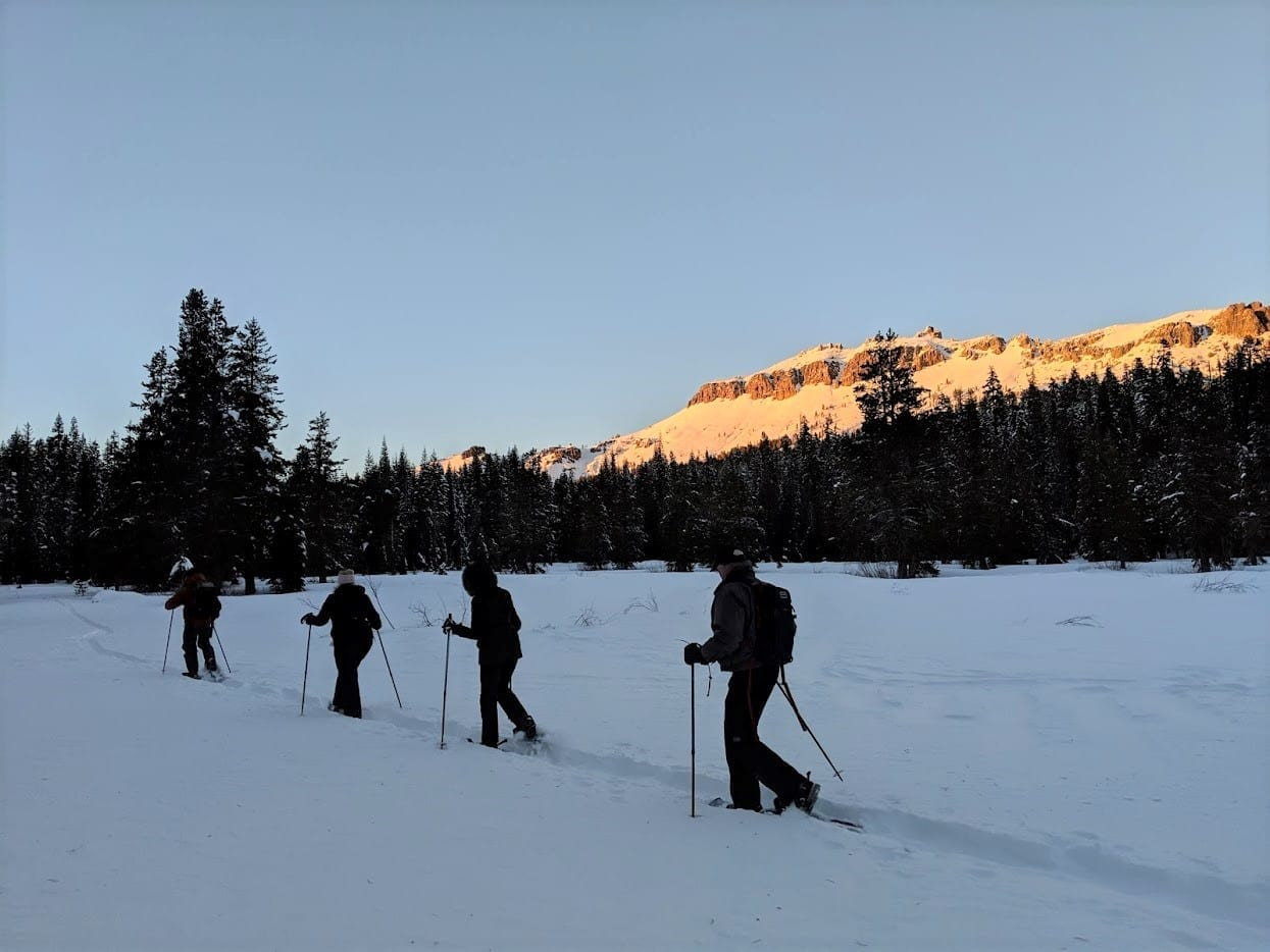 Lake Tahoe events: Sunset Snowshoe Tours