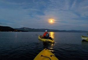 Lake Tahoe events: Full Moon Kayak Tours