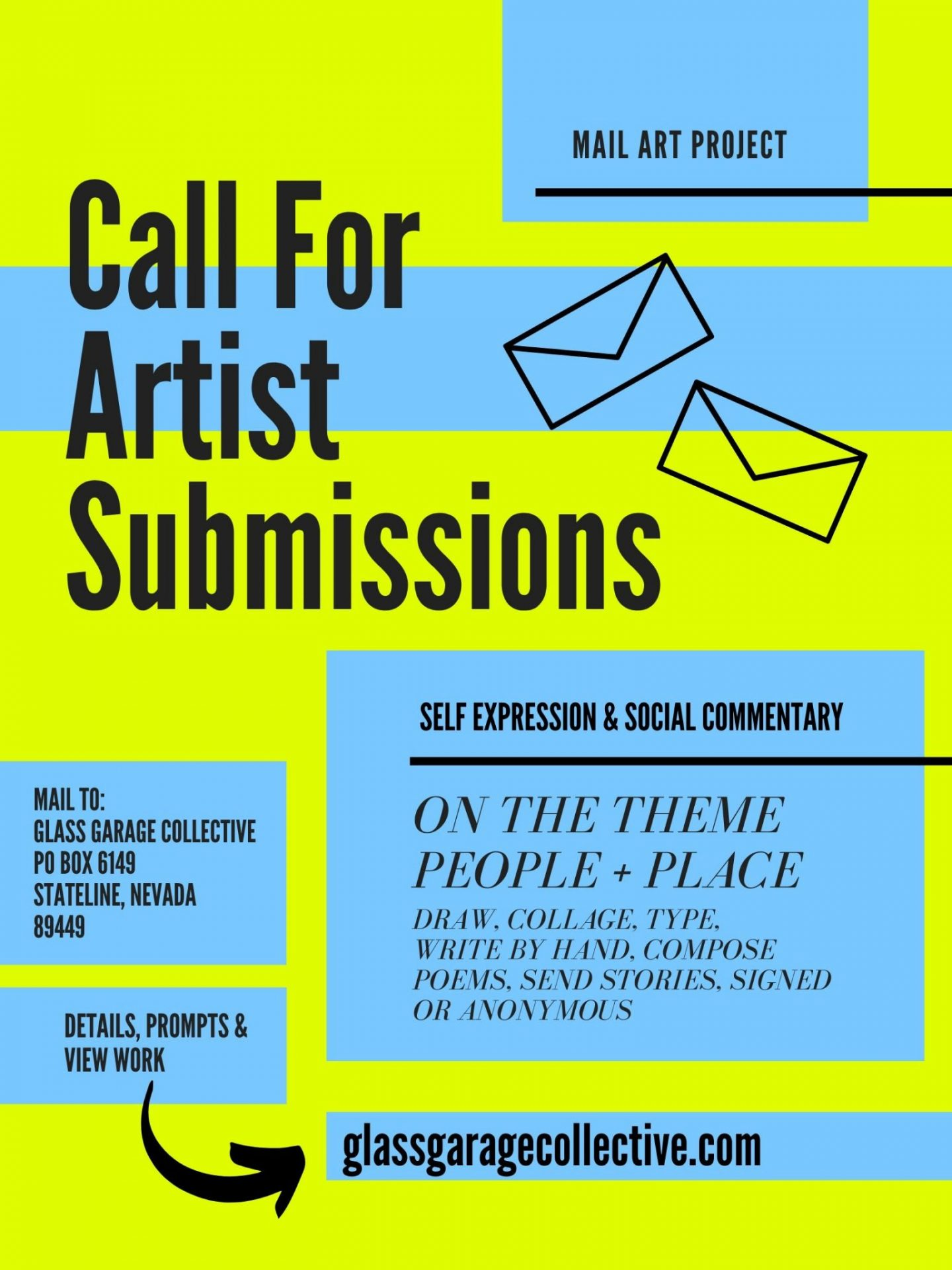 Lake Tahoe events: Mail Art: Call for Submissions