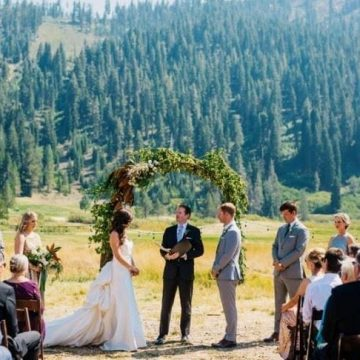 Squaw Valley Stables is a unique tahoe wedding venue in Olympic Valley