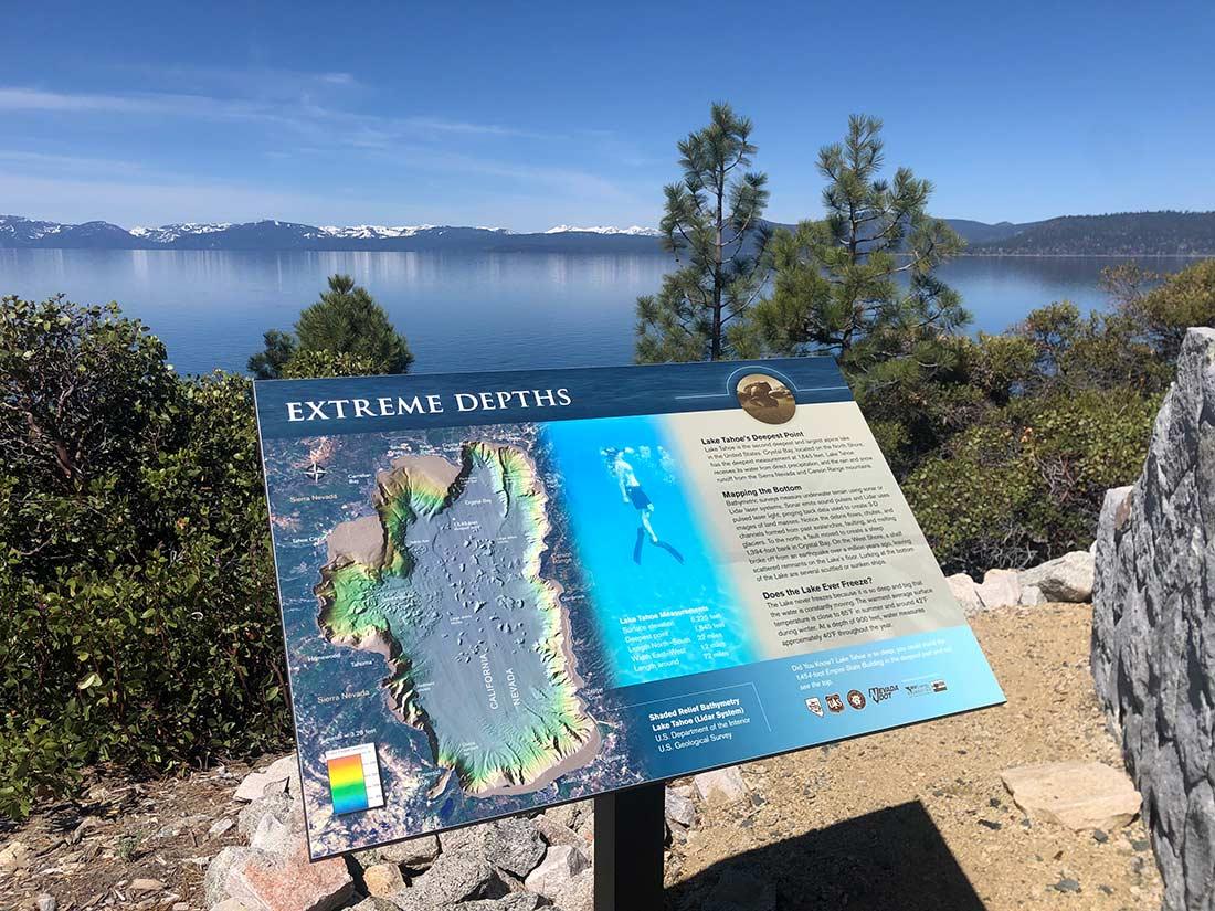 Tahoe East Shore Trail interpretive view