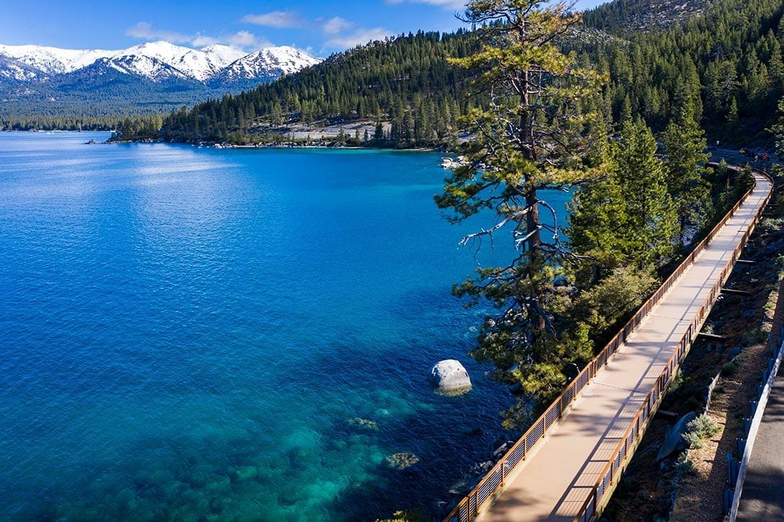 Tahoe East Shore Trail longest bridge