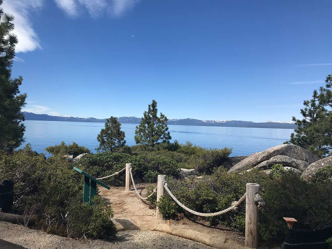 Tahoe East Shore Trail pathway