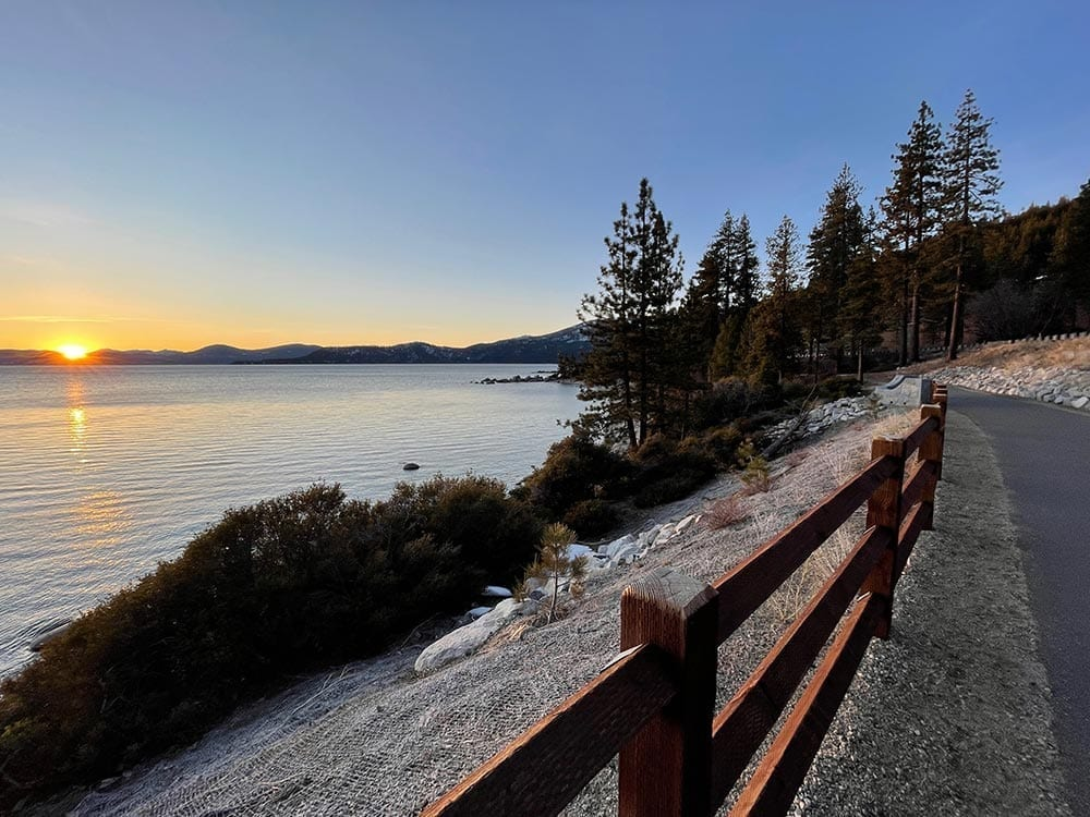 Tahoe Trail sunset