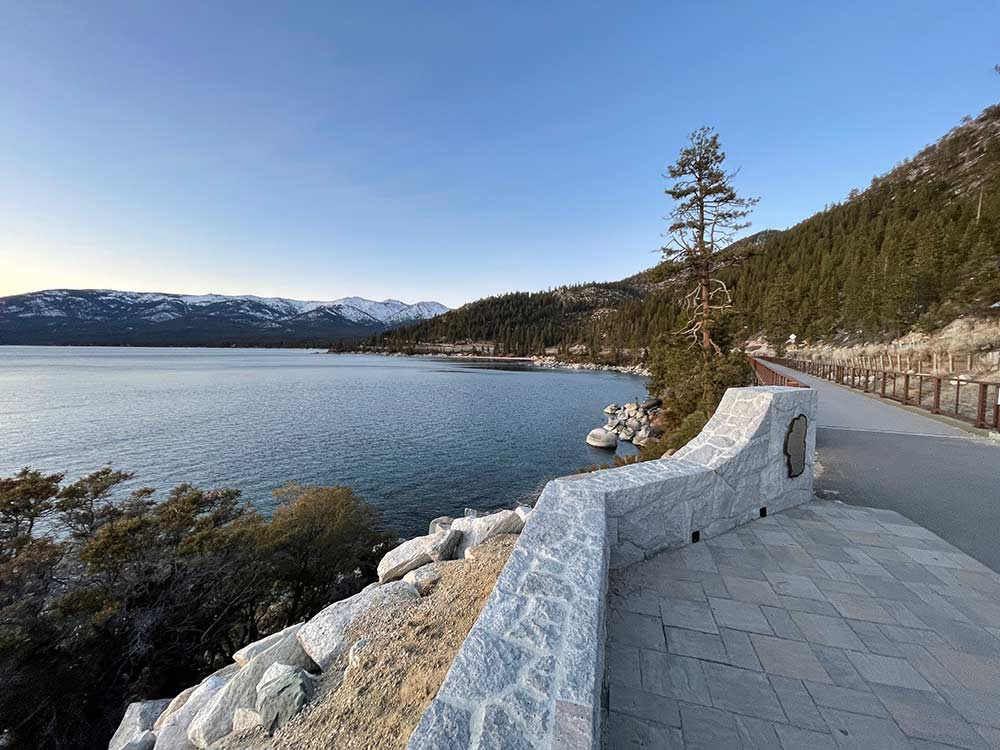 Tahoe Trail wall and pathway