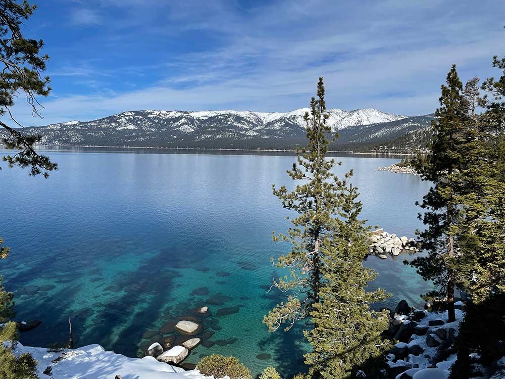 Tahoe Trail winter view
